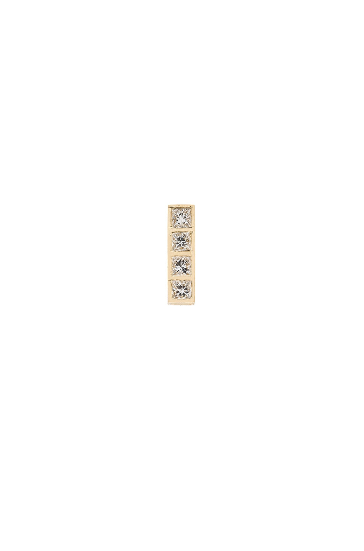 Image 1 of Ileana Makri Pixel Stud Earring in Yellow Gold