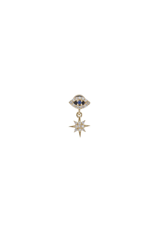 Image 1 of Ileana Makri Single Eye Stud Earring in Yellow Gold