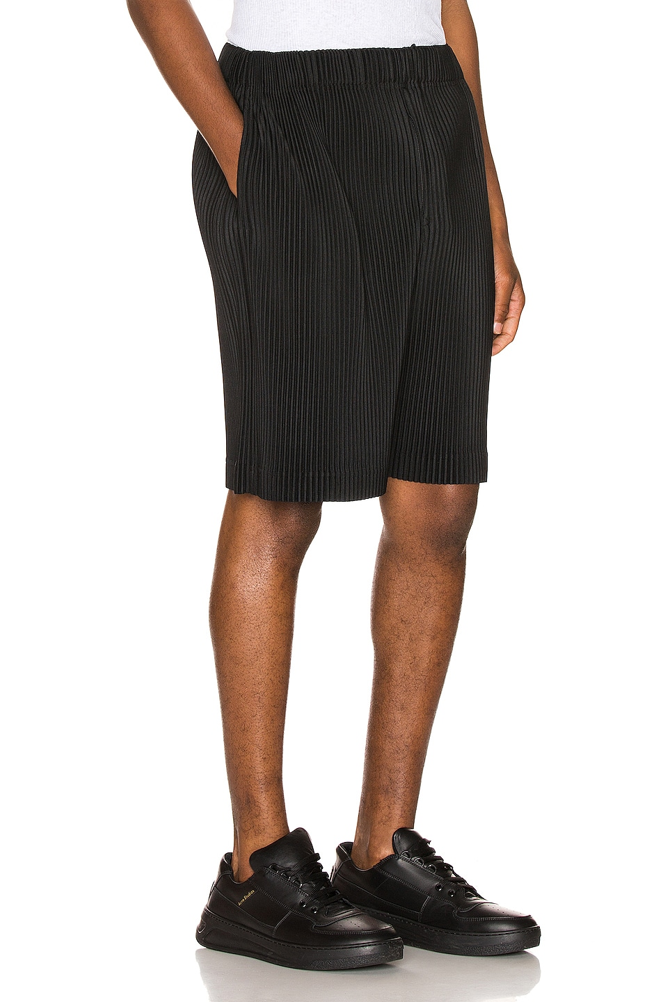 Image 2 of Issey Miyake Homme Plisse Shorts in Black