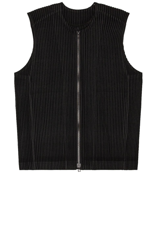 Image 1 of Homme Plisse Issey Miyake Vest in Black