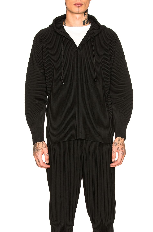 Image 1 of Homme Plisse Issey Miyake Pullover Hoodie in Black