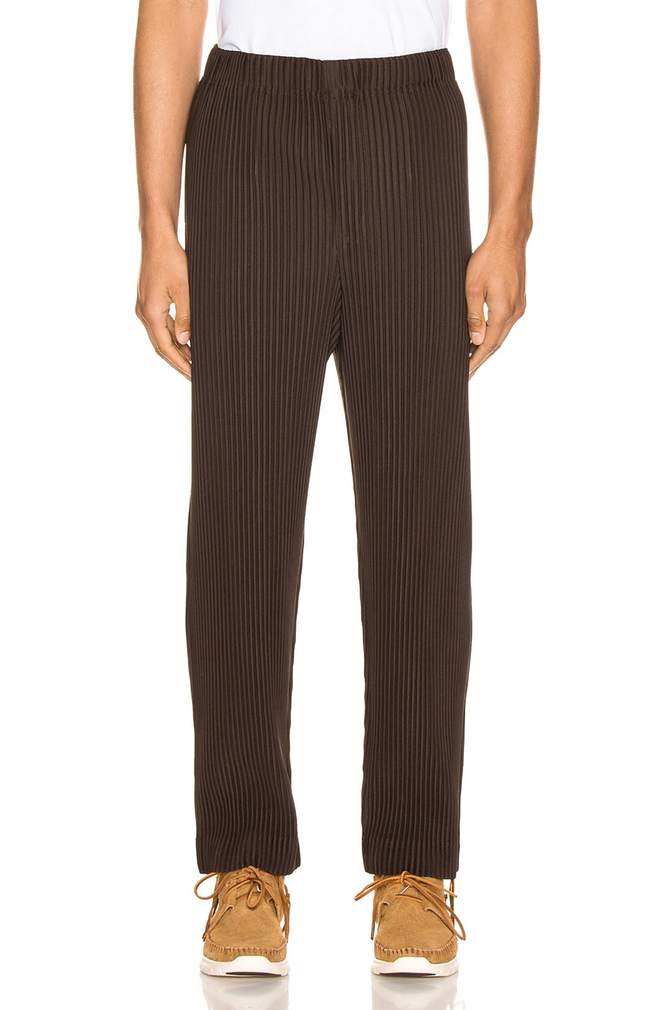Image 1 of Issey Miyake Homme Plisse Trousers in Chocolate Brown