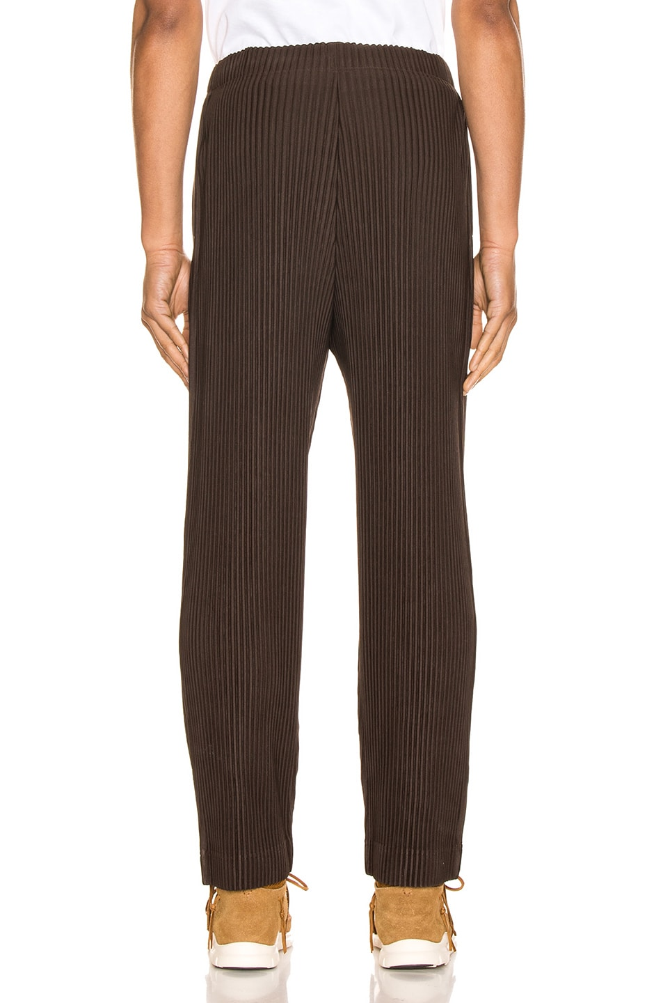 Image 3 of Issey Miyake Homme Plisse Trousers in Chocolate Brown