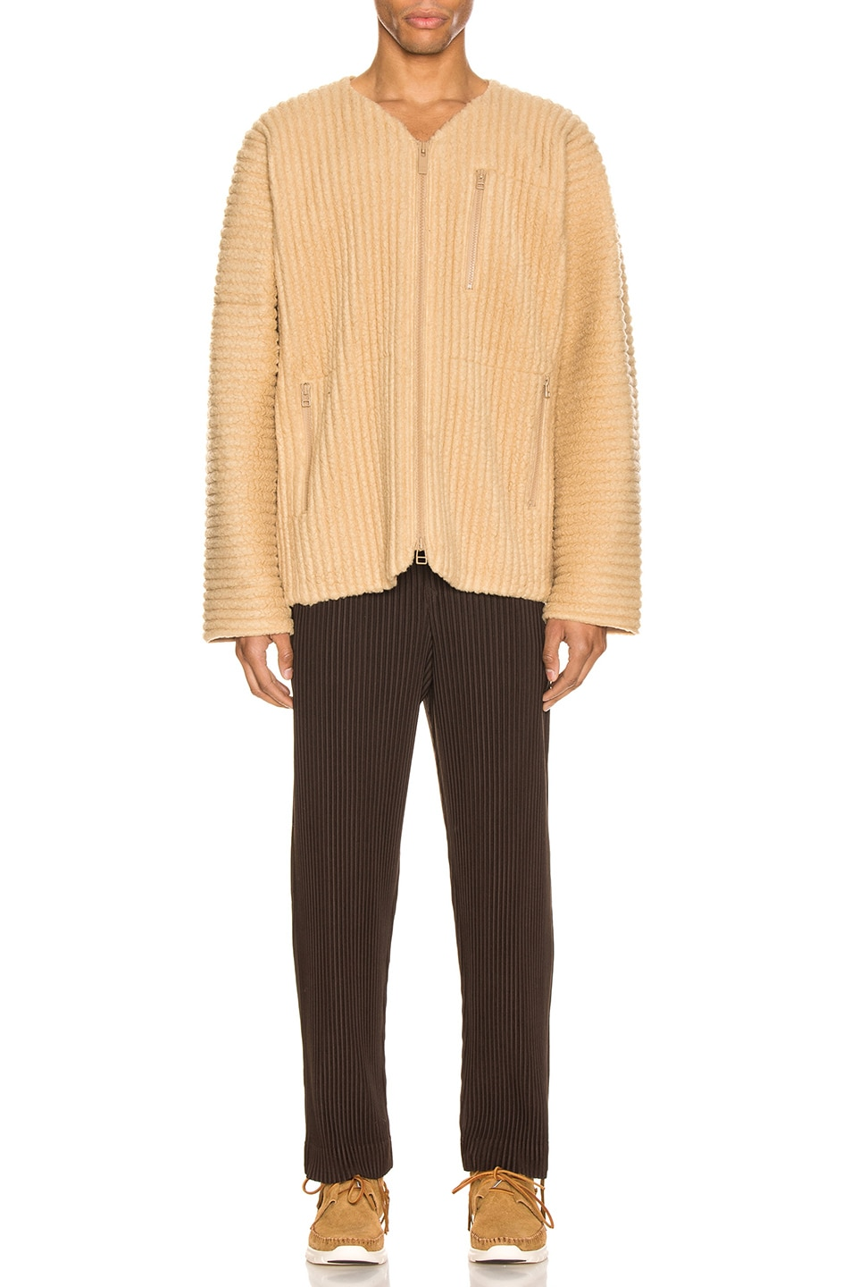 Image 4 of Issey Miyake Homme Plisse Trousers in Chocolate Brown