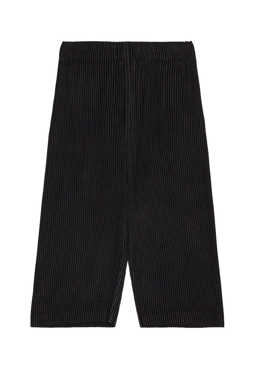 Image 1 of Homme Plisse Issey Miyake MC August Crop Wide Pant in Black