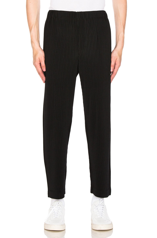 Image 1 of Homme Plisse Issey Miyake Trousers in Black