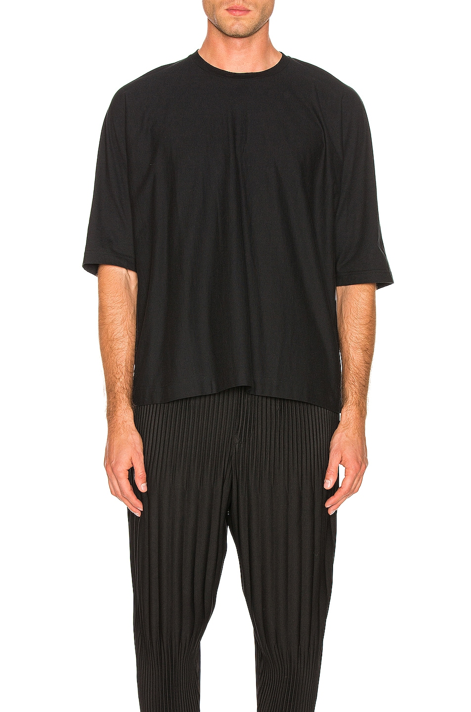Image 1 of Issey Miyake Homme Plisse Release T in Black