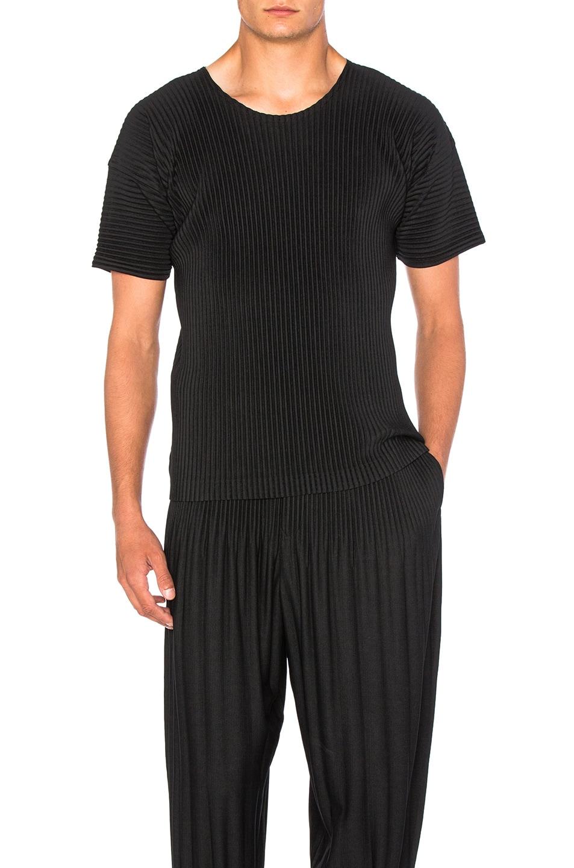 Image 1 of Homme Plisse Issey Miyake Short Sleeve Tee in Black