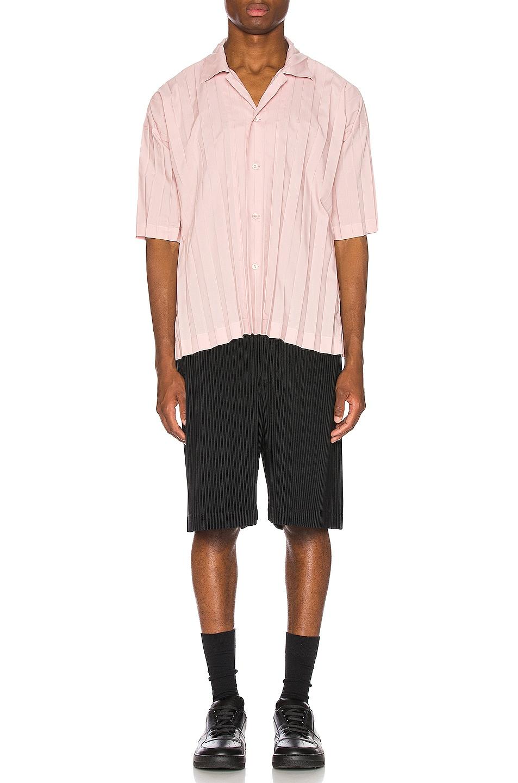 Image 4 of Issey Miyake Homme Plisse Edge Shirt in Pink