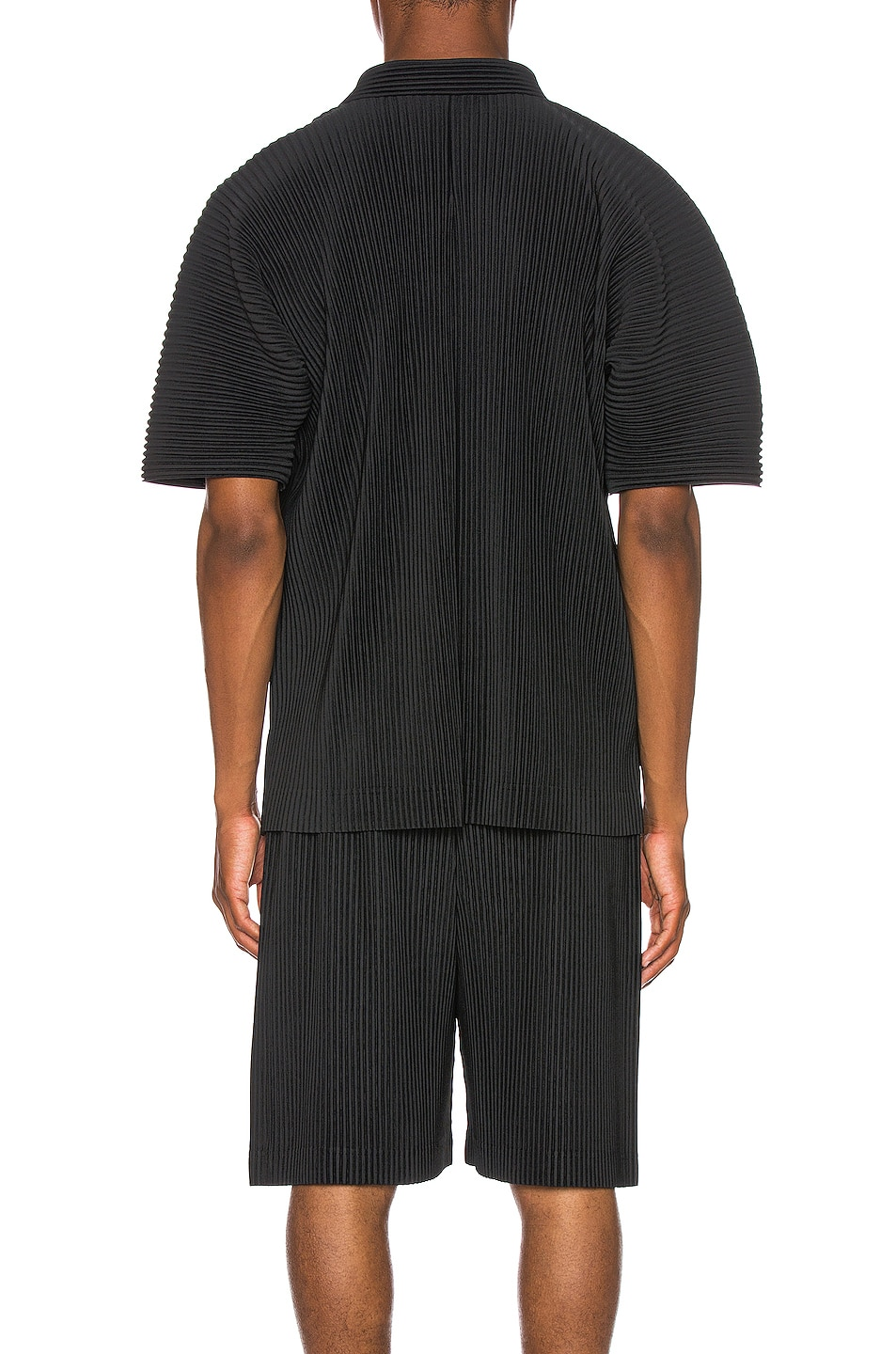 Image 3 of Issey Miyake Homme Plisse Button Shirt in Black