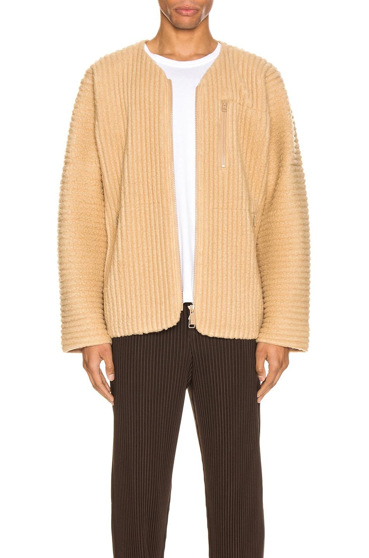 Image 2 of Issey Miyake Homme Plisse Fleece Shirt in Light Beige