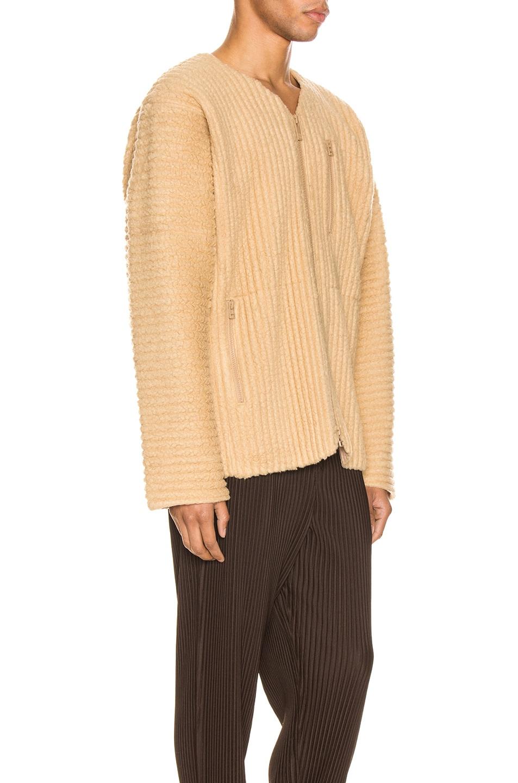 Image 3 of Issey Miyake Homme Plisse Fleece Shirt in Light Beige