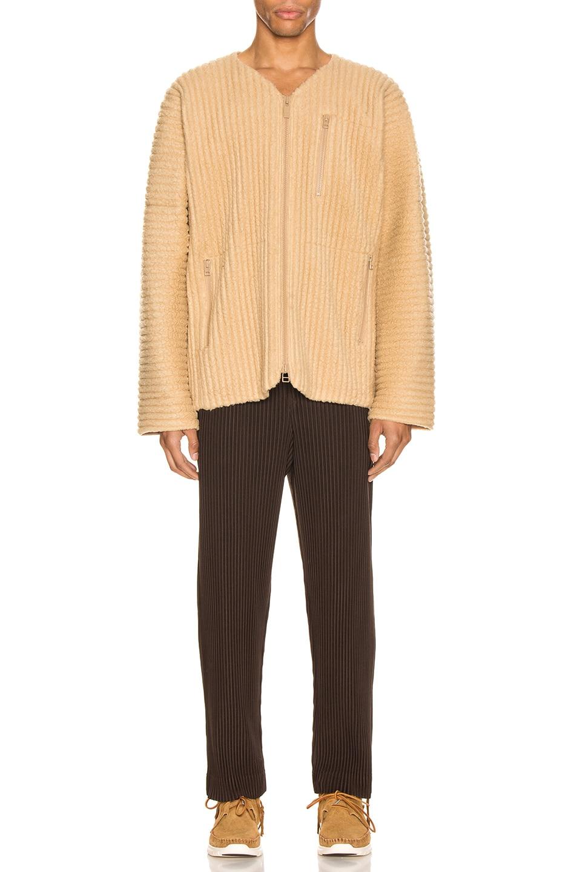 Image 5 of Issey Miyake Homme Plisse Fleece Shirt in Light Beige