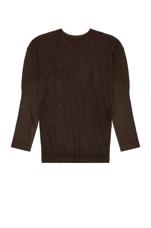 Image 1 of Homme Plisse Issey Miyake Color Pleats Top in Brown