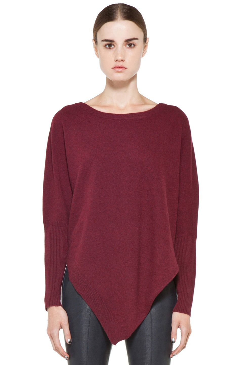 Image 1 of Inhabit Cashmere Weekend Sweater in Bordeaux