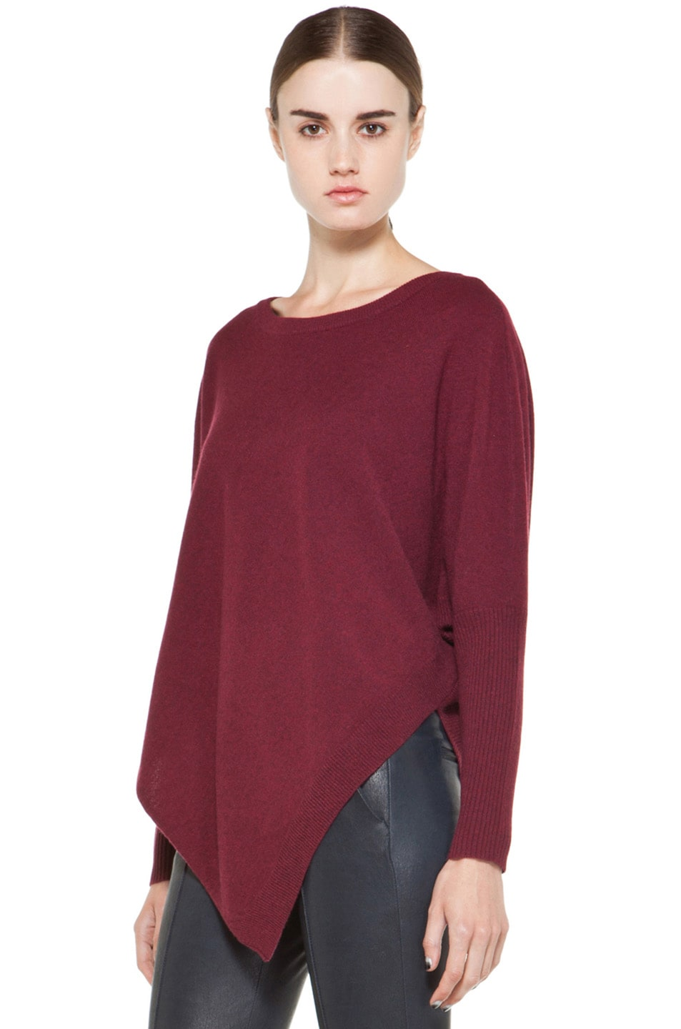 Image 2 of Inhabit Cashmere Weekend Sweater in Bordeaux