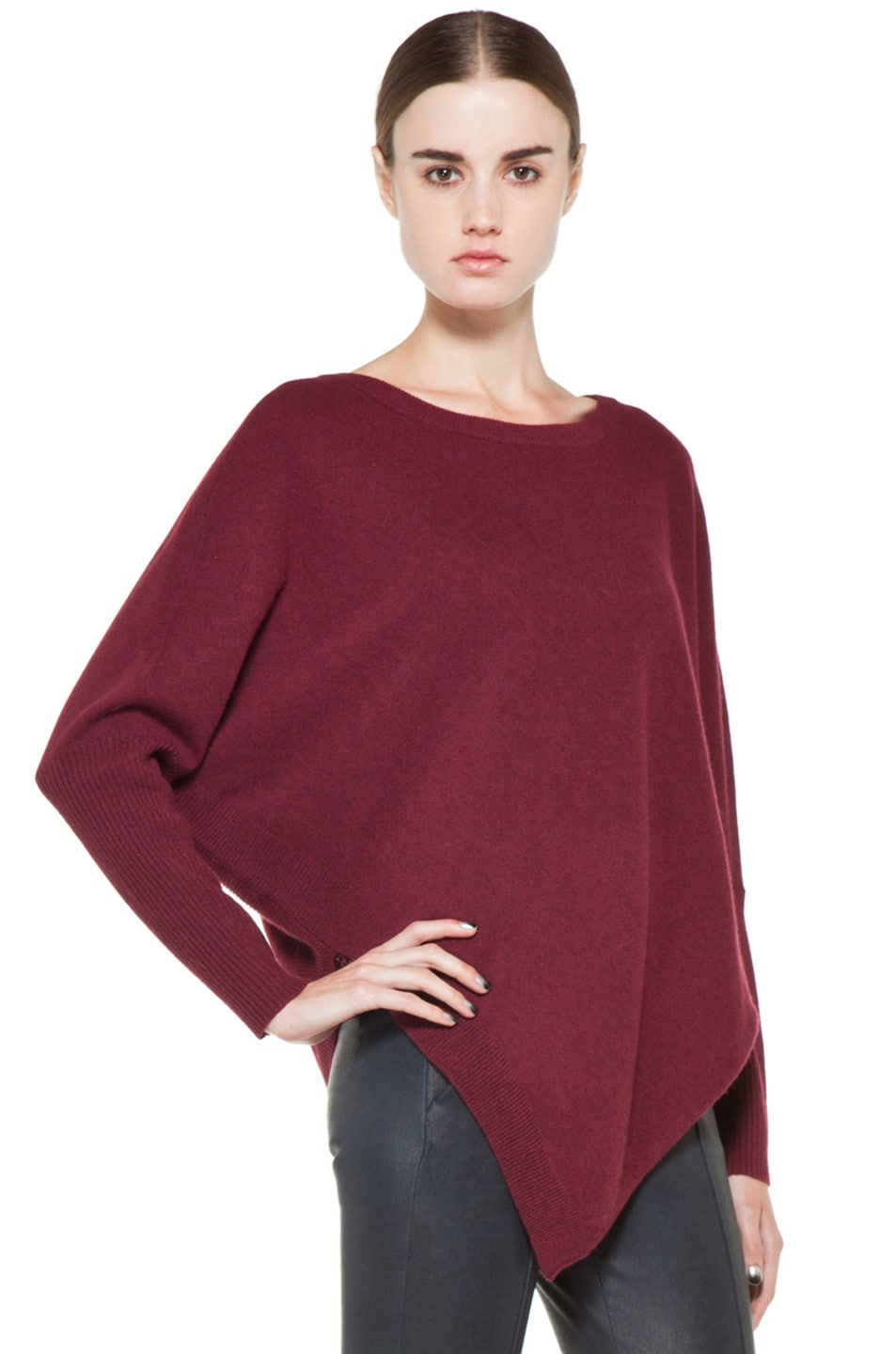Image 3 of Inhabit Cashmere Weekend Sweater in Bordeaux