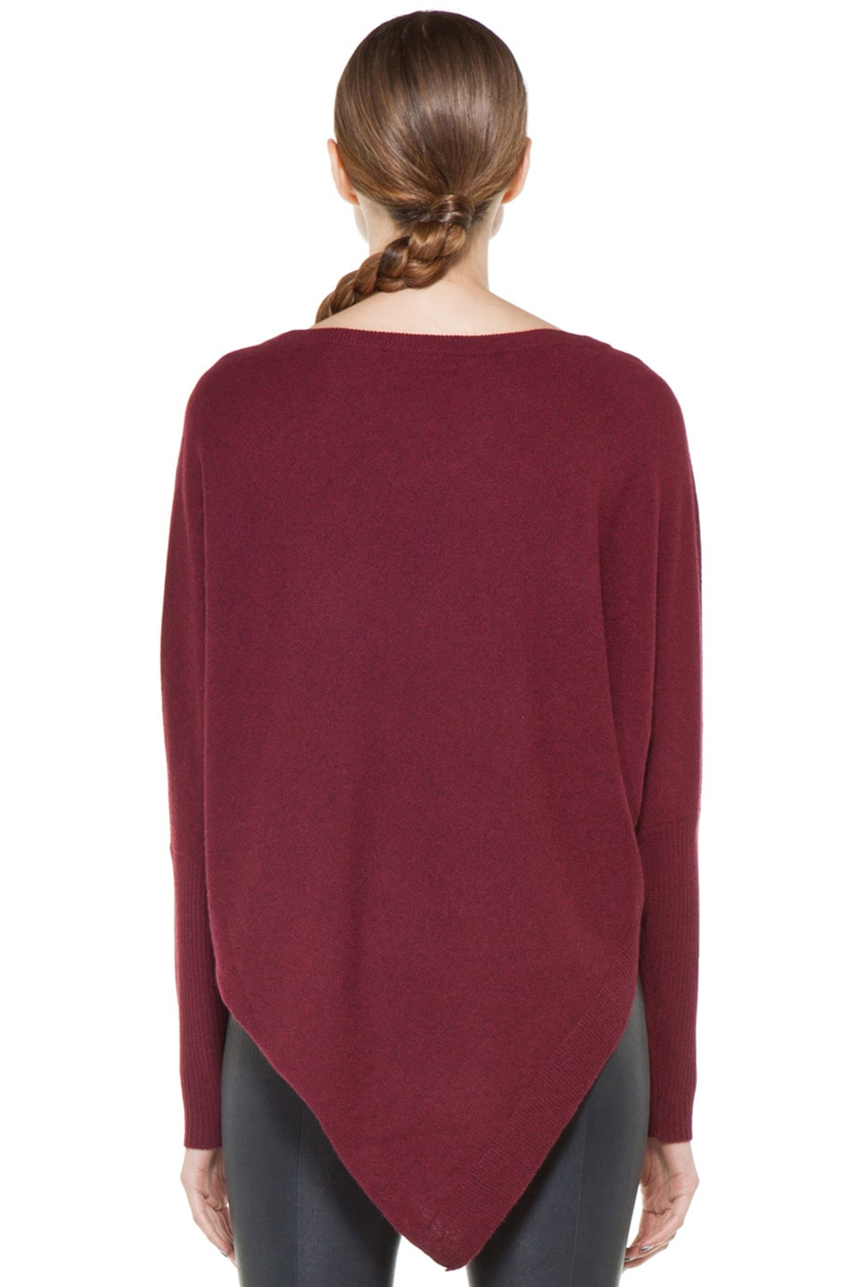 Image 4 of Inhabit Cashmere Weekend Sweater in Bordeaux
