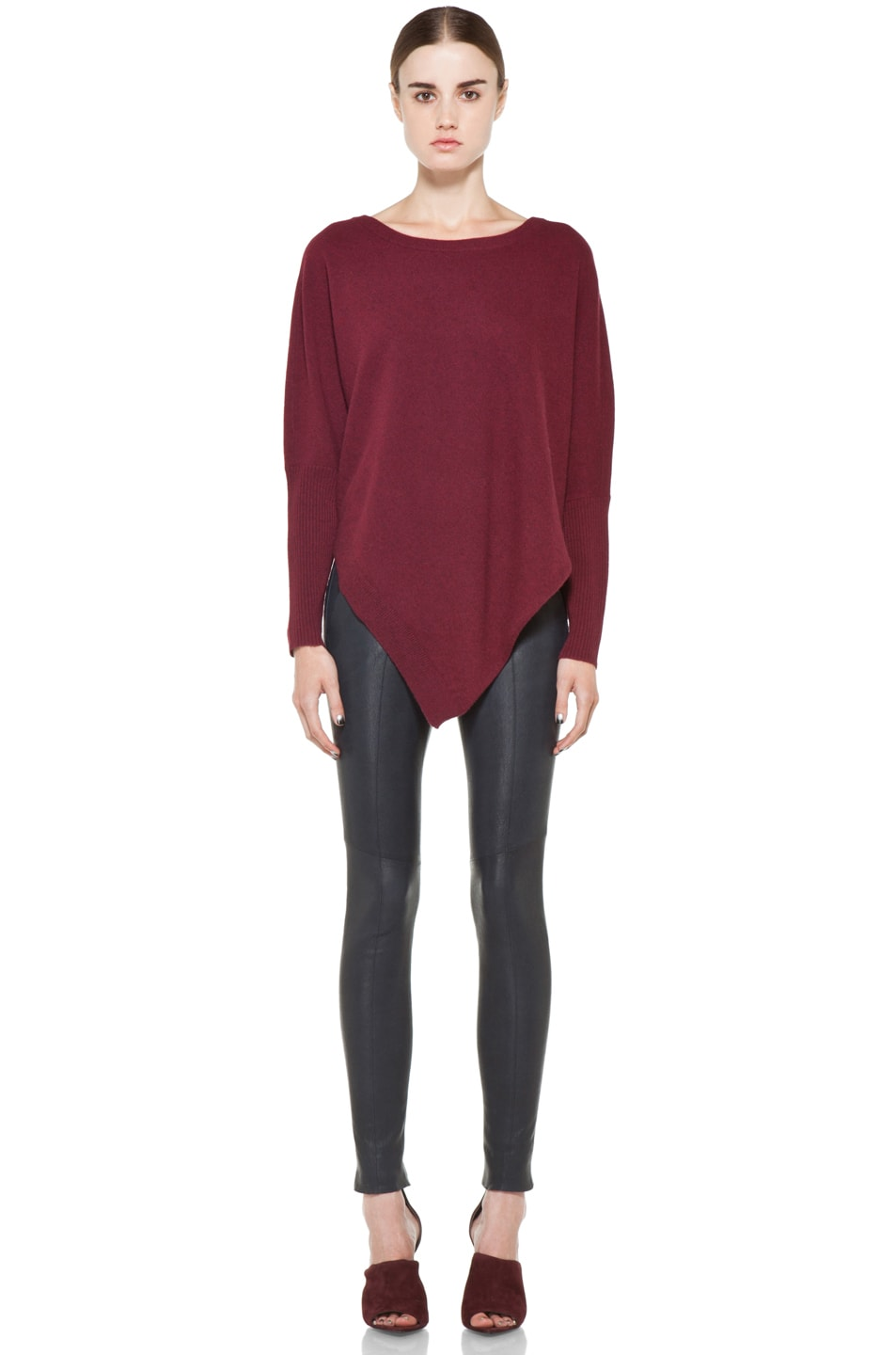 Image 5 of Inhabit Cashmere Weekend Sweater in Bordeaux