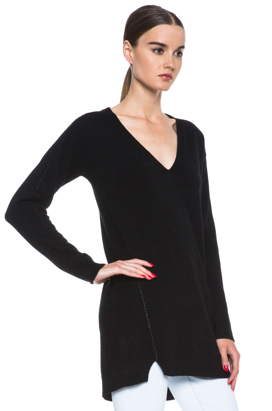 Inhabit Cashmere Tunic Sweater in Black | FWRD