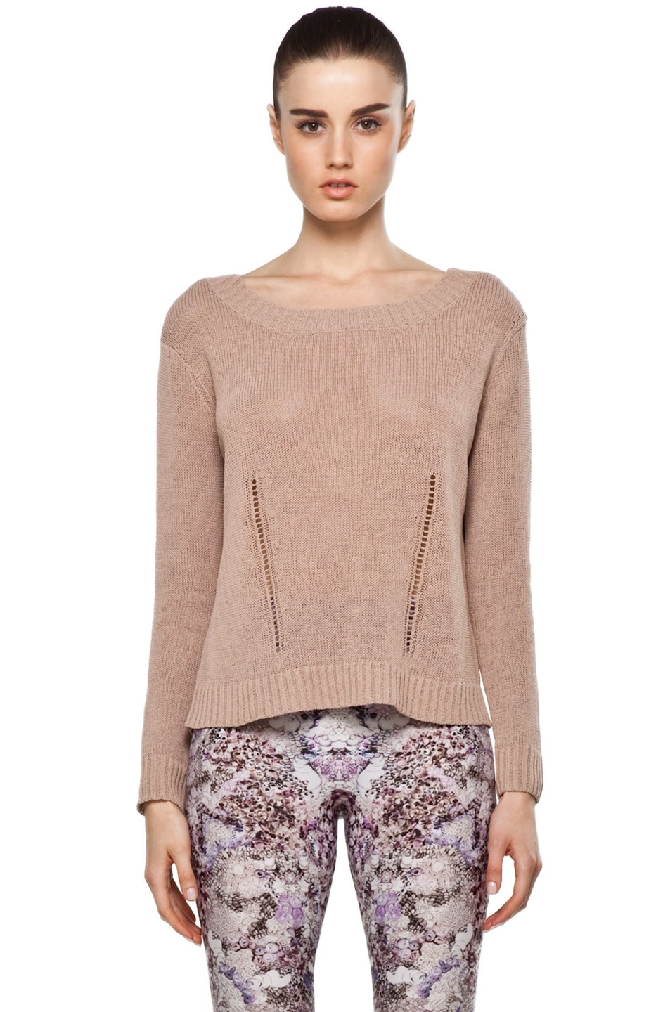 Image 1 of Inhabit Backless Sweater in Rye
