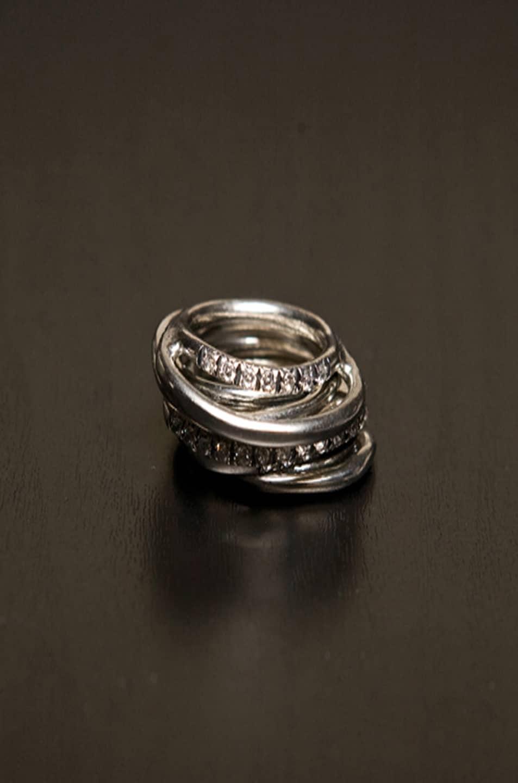 Image 2 of Iosselliani Multi Set of Rings in Silver