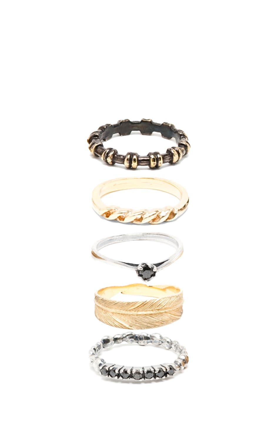 Image 2 of Iosselliani Mixed Set of Rings in Gold