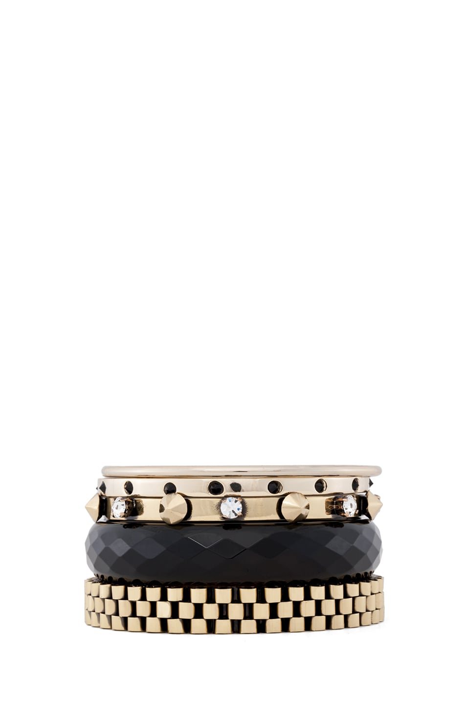 Image 1 of Iosselliani Bangle Set in Black