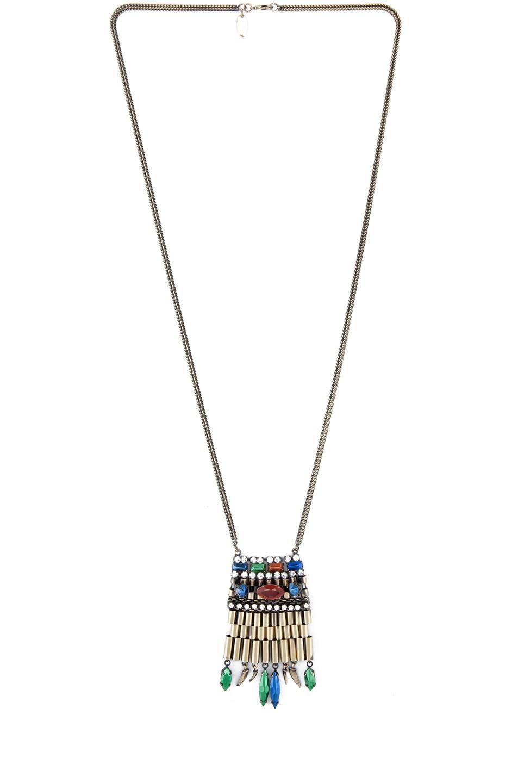 Image 1 of Iosselliani Long Rolex Stud Necklace in Multi
