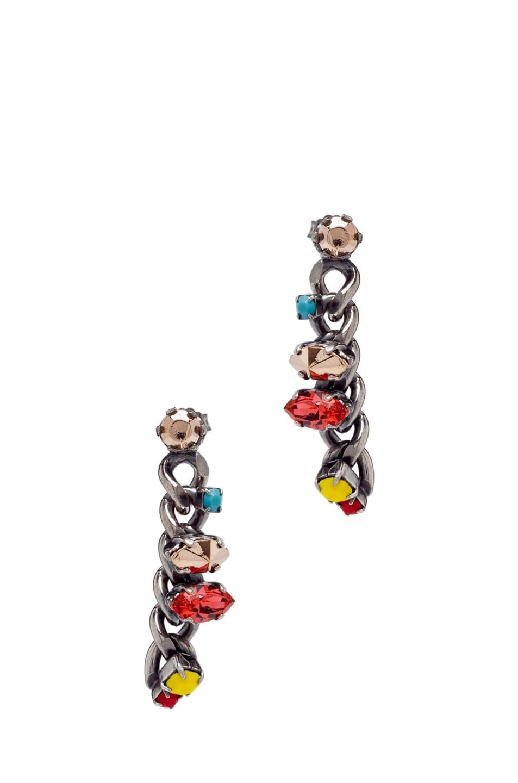 Image 1 of Iosselliani Little Chain Earrings in Multi