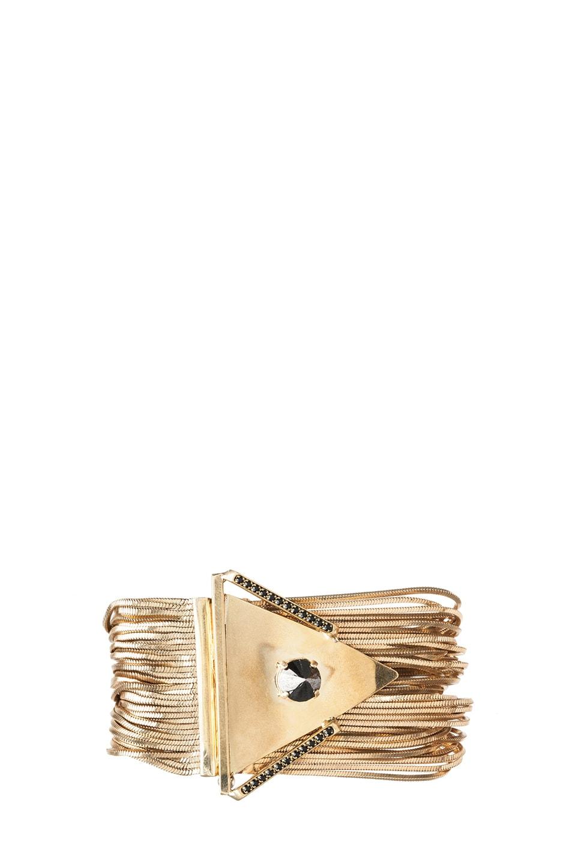 Image 1 of Iosselliani Multi Wire Antique Brass Bracelet in Gold