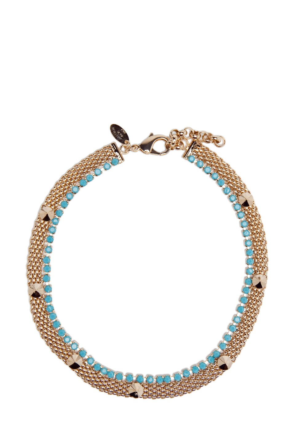 Image 1 of Iosselliani Gold Plated Necklace with Studs in Gold