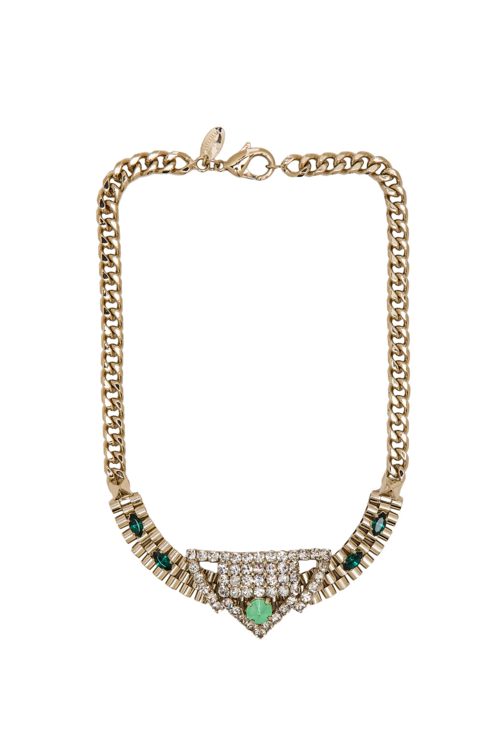 Image 1 of Iosselliani Gold-plated Brass Necklace in Multi