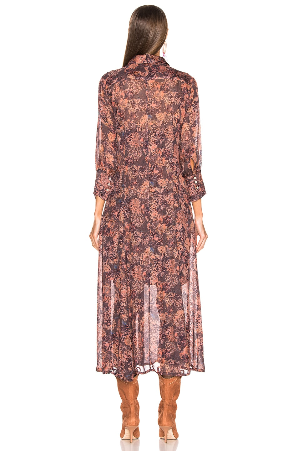 Image 4 of IRO Maddie Dress with Duster in Black Print