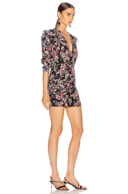 Image 2 of IRO Merca Dress in Black & Pink