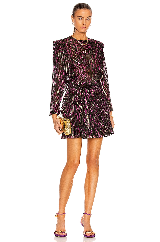 Image 1 of IRO Anael Dress in Black & Fuchsia