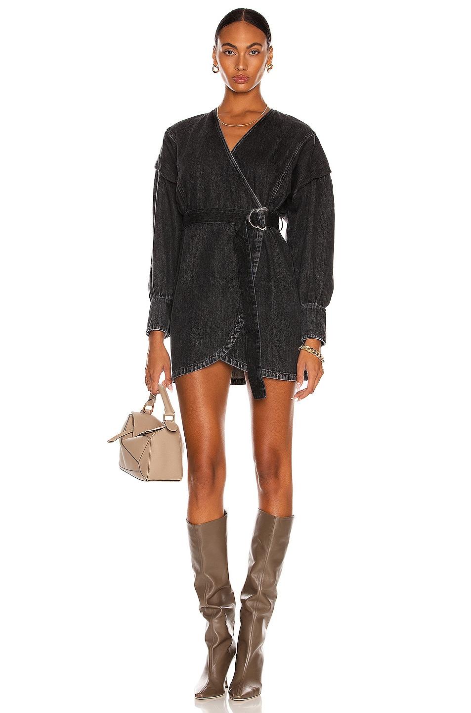 Image 1 of IRO Gerlin Dress in Black Denim