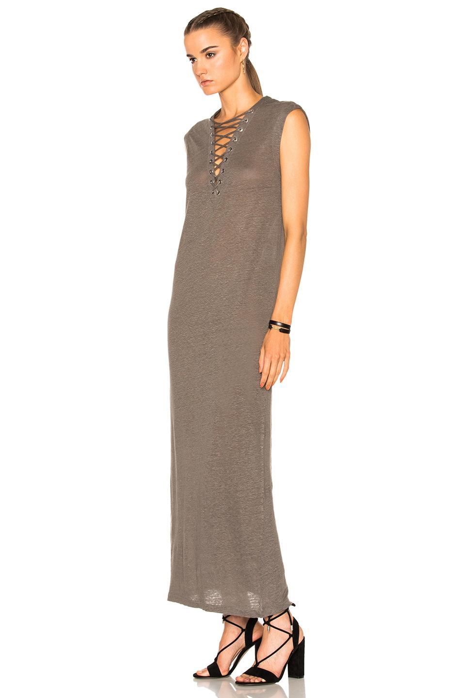 Image 2 of IRO Daisy Dress in Stone Gray