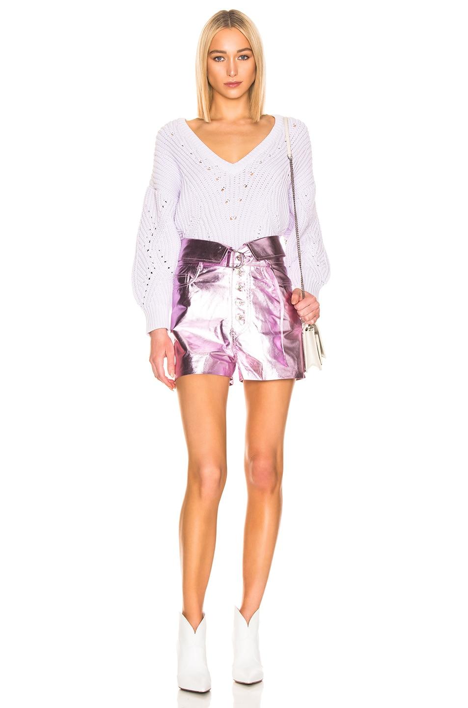 Image 4 of IRO Kompa Shorts in Blush Lurex