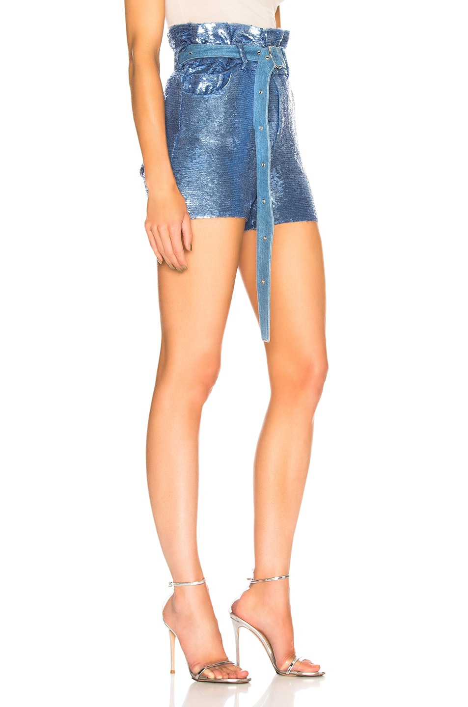 Image 2 of IRO Namour Sequin Short in Blushed Blue