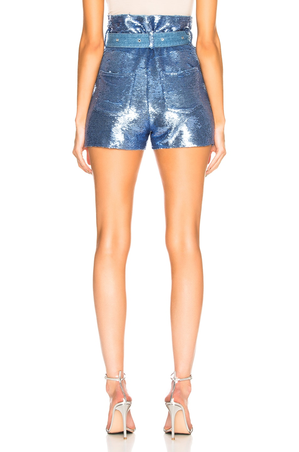 Image 3 of IRO Namour Sequin Short in Blushed Blue
