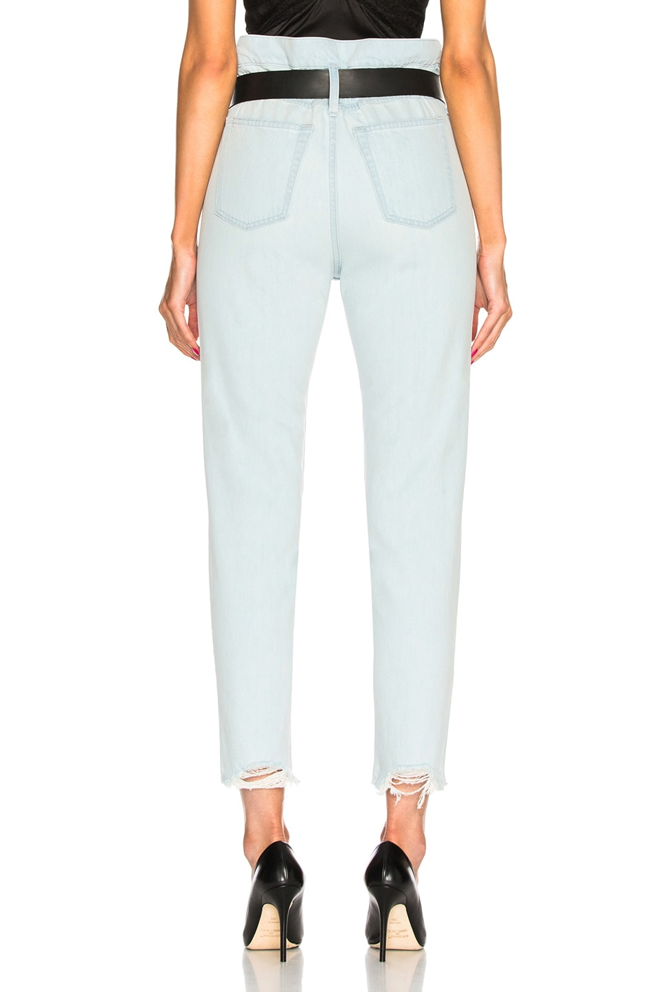 Image 3 of IRO Aven High Rise Belted Straight in Light Blue