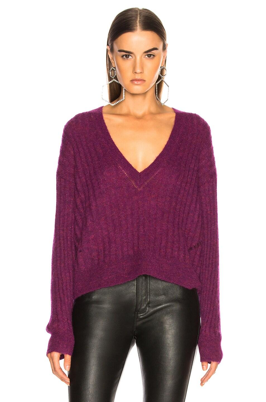 Image 2 of IRO Wall Sweater in Magenta Purple