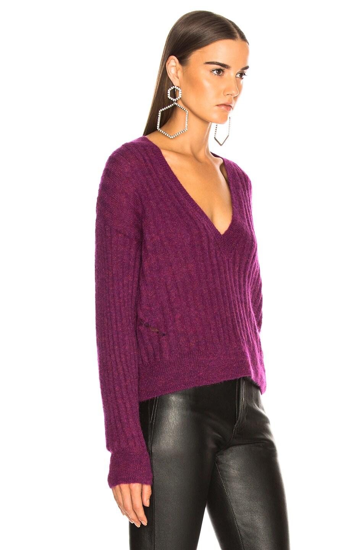 Image 3 of IRO Wall Sweater in Magenta Purple