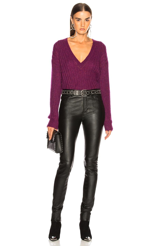 Image 5 of IRO Wall Sweater in Magenta Purple