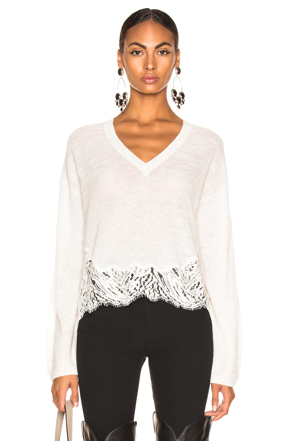 Image 1 of IRO Hysteria Sweater in Mixed Ecru
