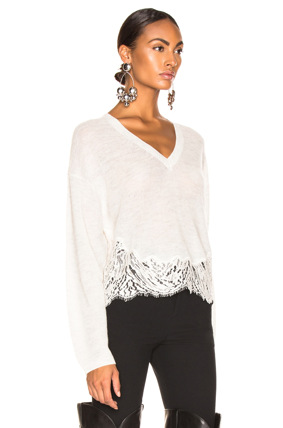Image 2 of IRO Hysteria Sweater in Mixed Ecru