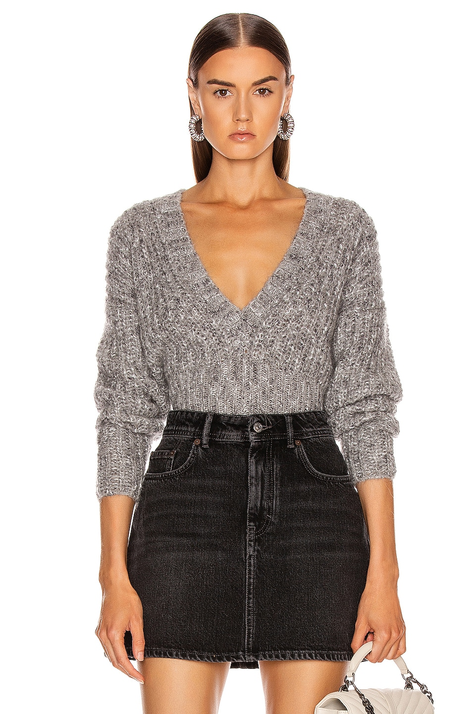 Image 1 of IRO Kyle Sweater in Mixed Grey
