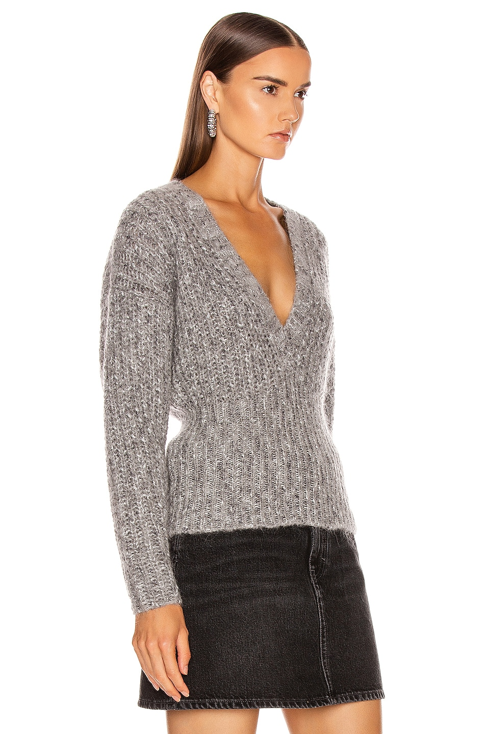 Image 2 of IRO Kyle Sweater in Mixed Grey