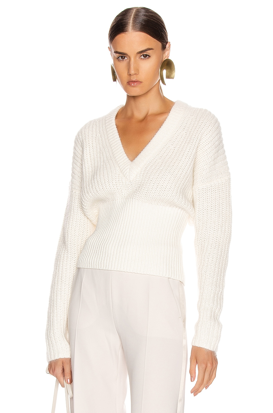 Image 1 of IRO Marshall Sweater in Chalk